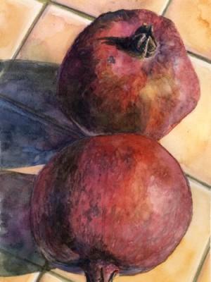 PomegranatesWatercolor