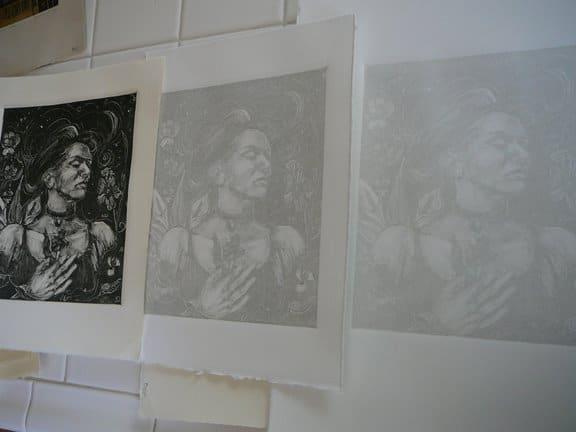 monotype-print-ghost