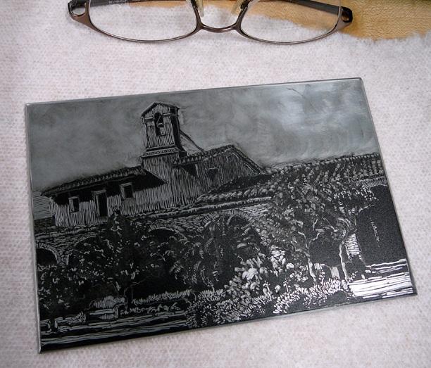 dark field monotype plate