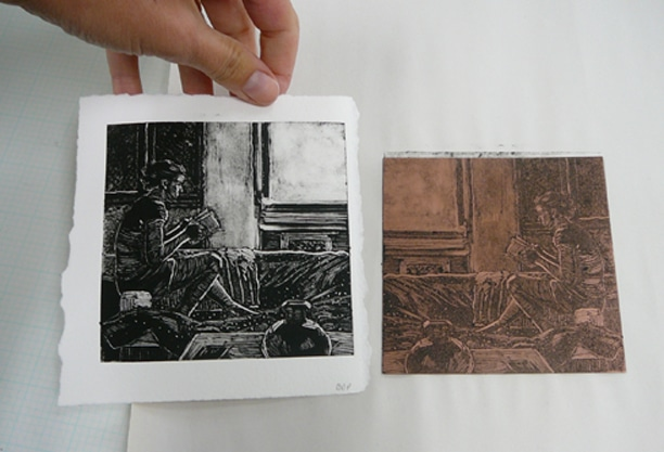 monotype vs a ghost print