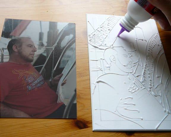 making a glue collagraph
