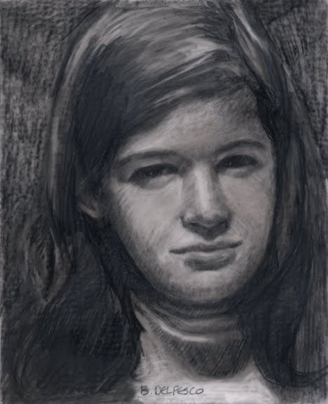 Graphite portrait drawing