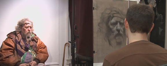 Artist Dabid Kassan Drawing a Figure