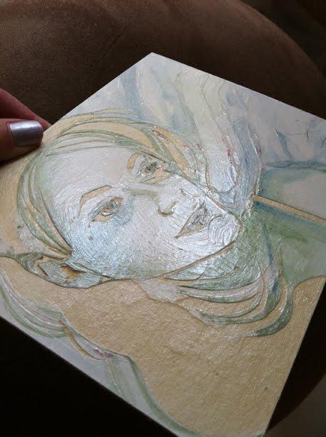mat board collagraph intaglio plate