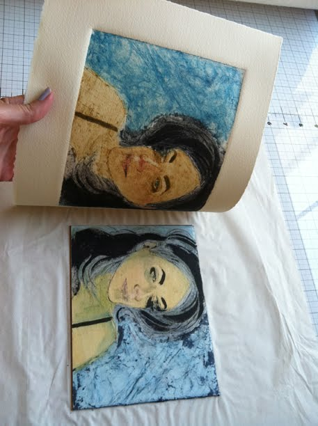 pulling a collagraph print