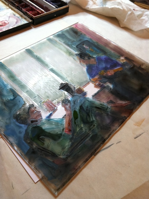 monotype from plexiglass