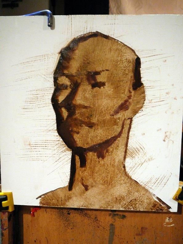 Daniel Sprick Portrait Demo beginnings