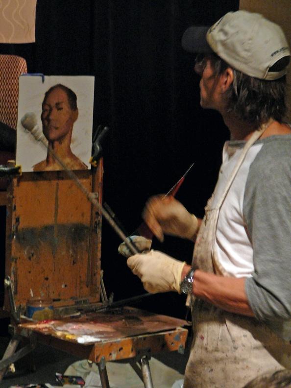 Daniel Sprick teaching a portrait workshop
