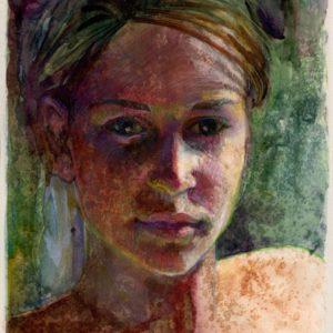 light field monotype portrait