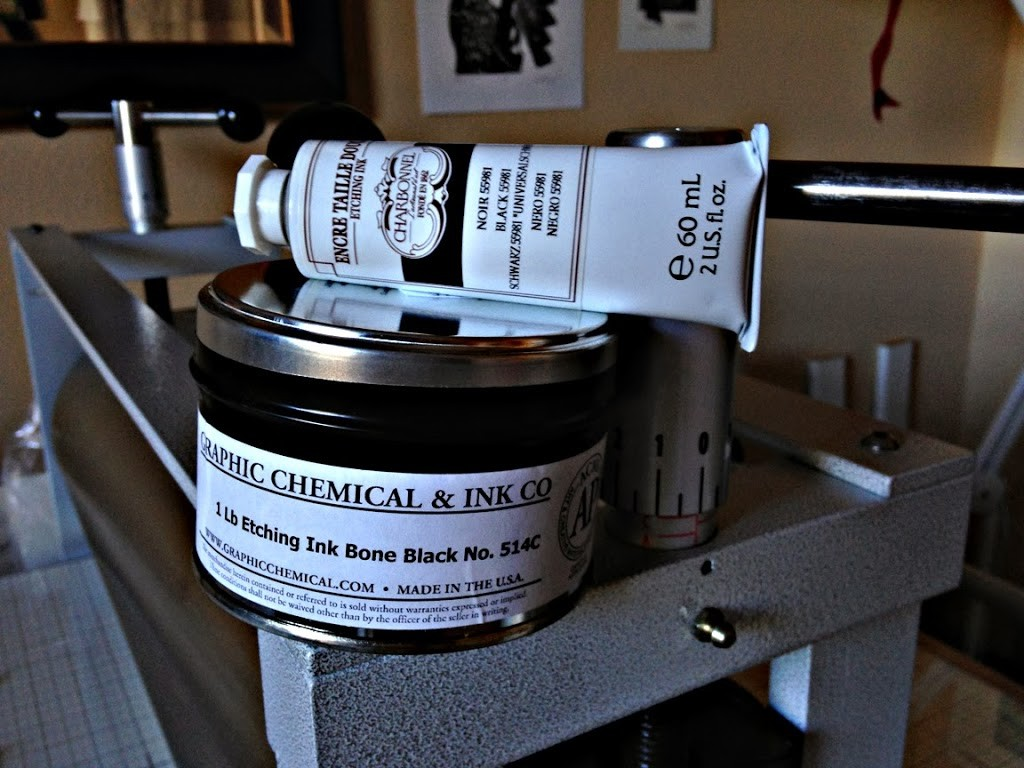 The best ink mixture for drypoint printmaking