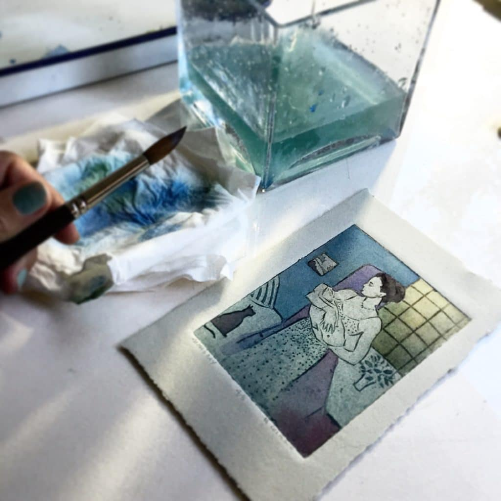 painted-collagraphs