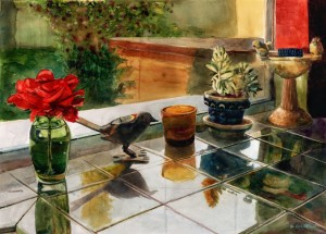 watercolor paintings from the kitchen