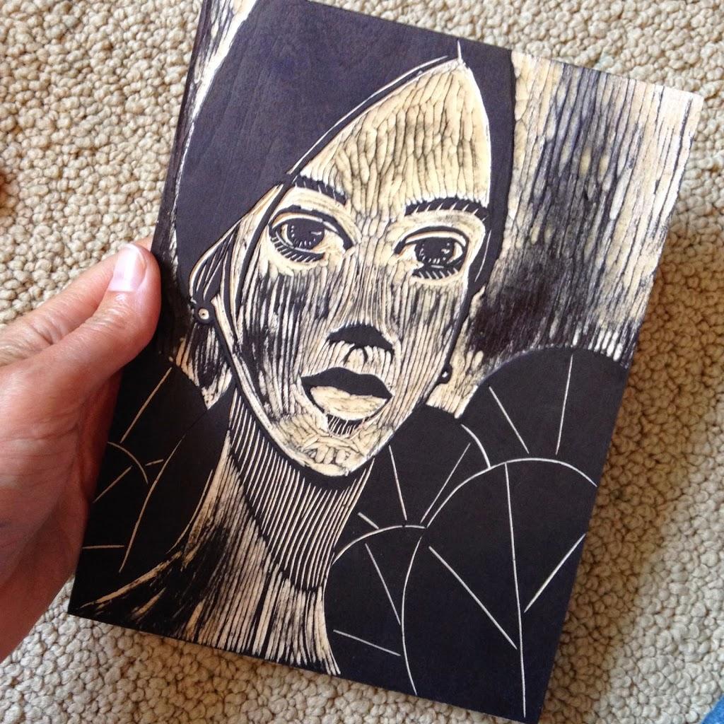 woodcut-on-shina-wood