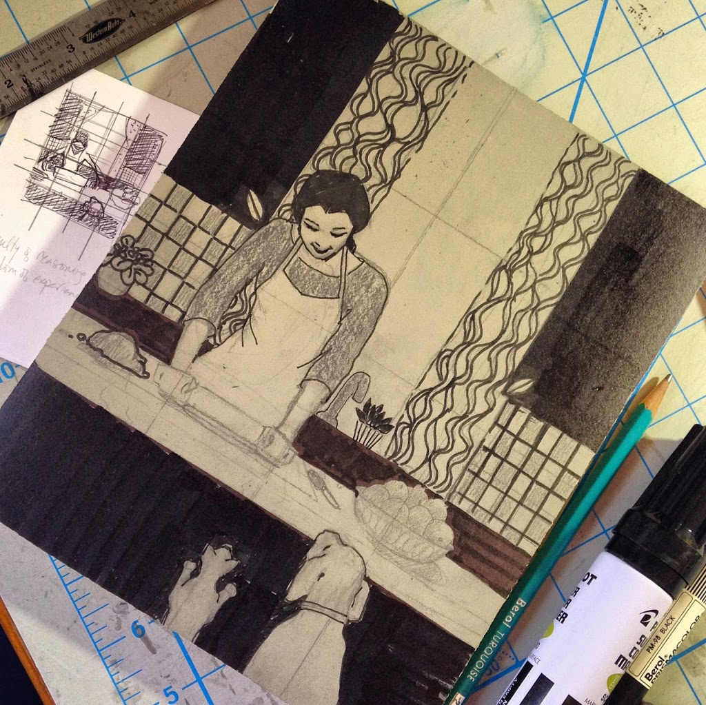 process for two color linocut prints