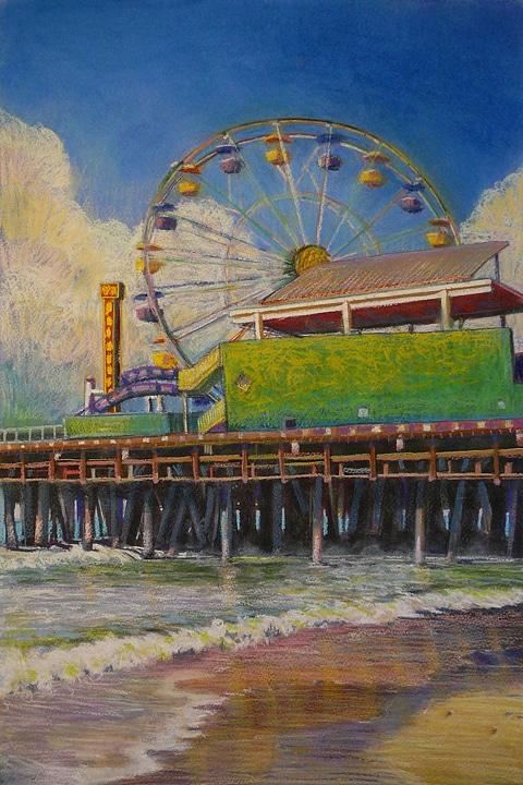 Spin-Ferris-Wheel-Pastel-Art