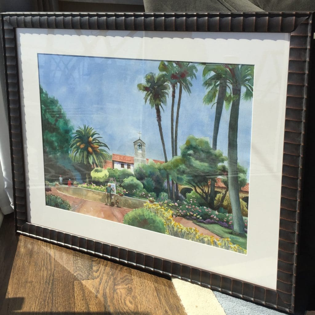 capistrano-watercolor-framed
