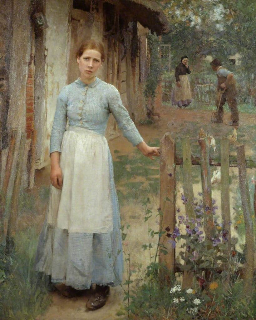 Clausen, George; The Girl at the Gate; Tate; http://www.artuk.org/artworks/the-girl-at-the-gate-198199