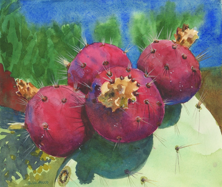 opuntia-watercolor-art