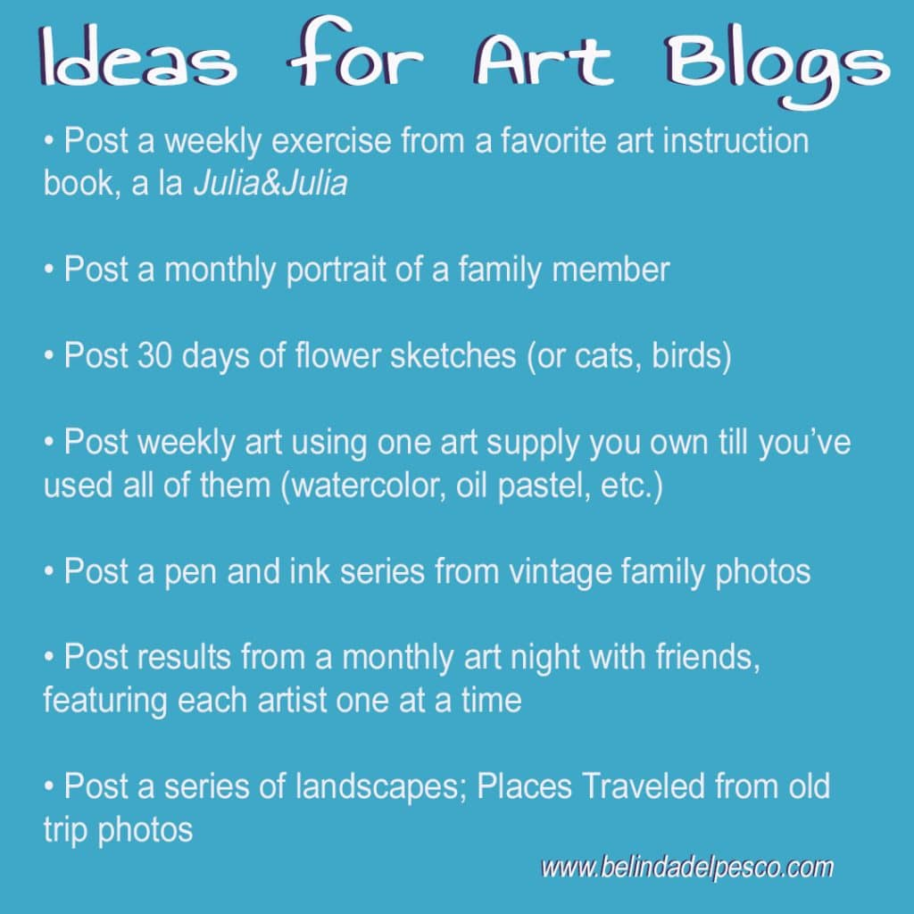 ideas for topics to write about in an art blog