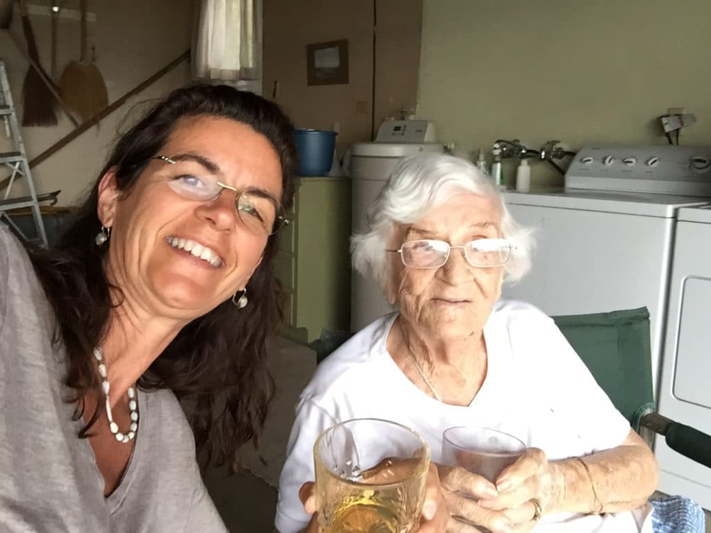 having a cocktail with my friend Nancy Dressler
