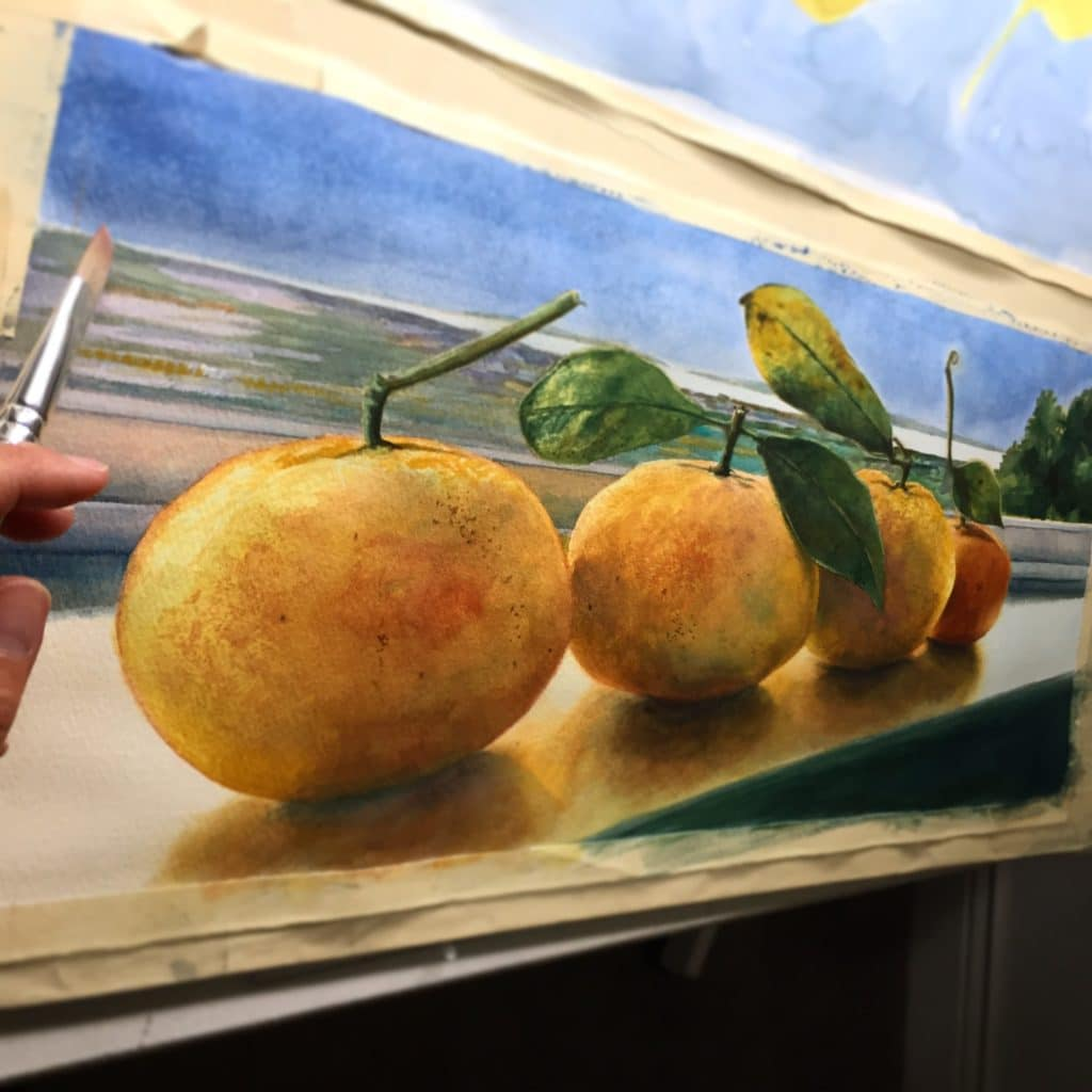 drybrush techniques in watercolor