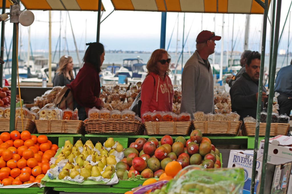fresh produce in San Francisco at Pier 39 Vlahos Fruit Orchard