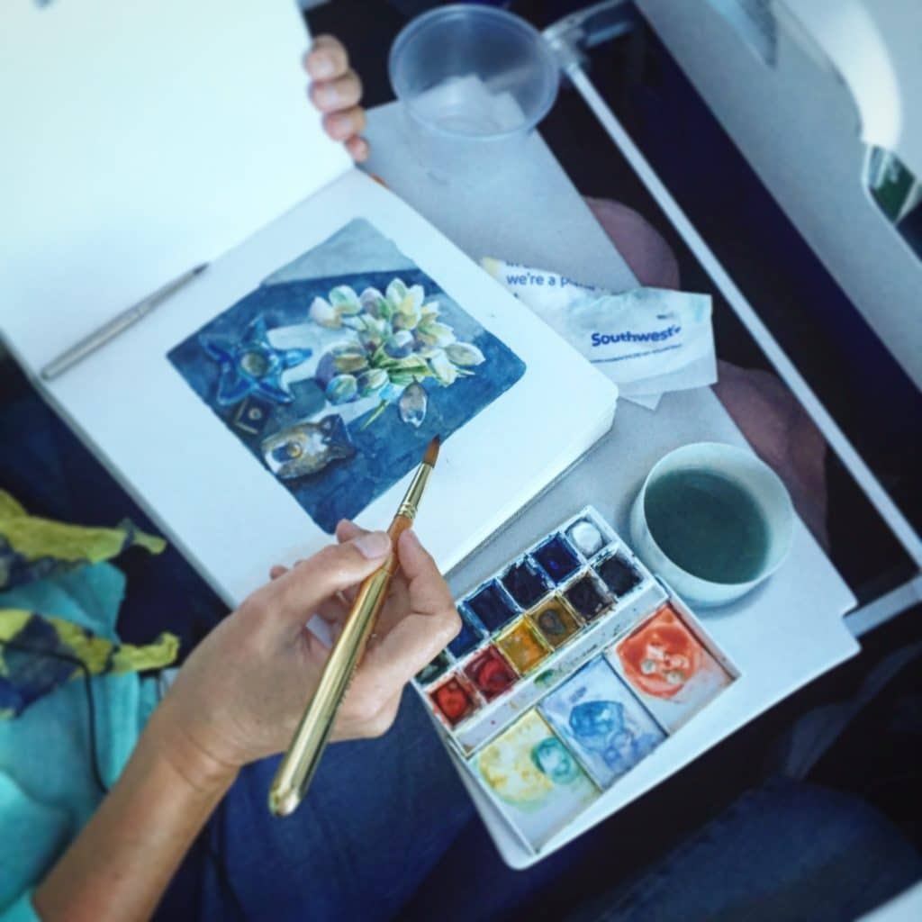 travels with watercolors