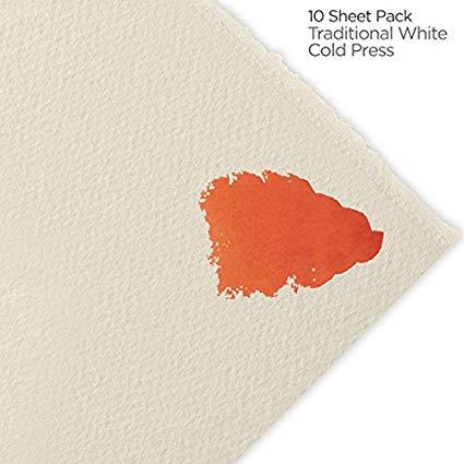 Fabriano Artistico 140 lb. Cold Press 10-Pack 22x30 - Traditional White