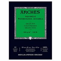 Arches 140 Lb CP Watercolor Pad 12 Sheet