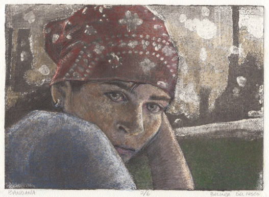 silk aquatint portrait