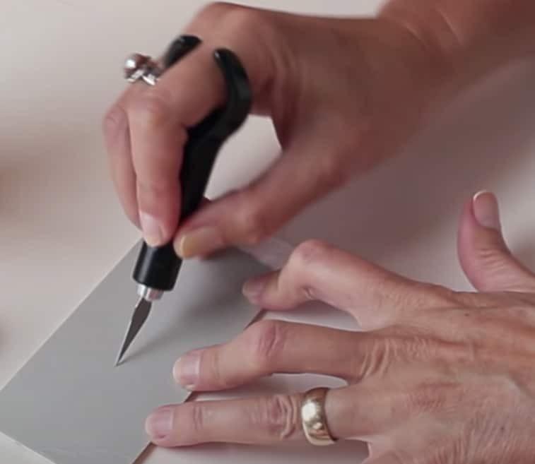 collagraph carving knife