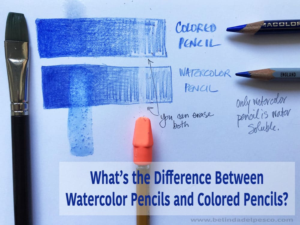 What is the difference between colored pencils and watercolor pencils?