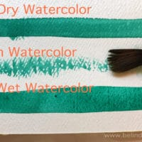 dry brush watercolor painting techniques