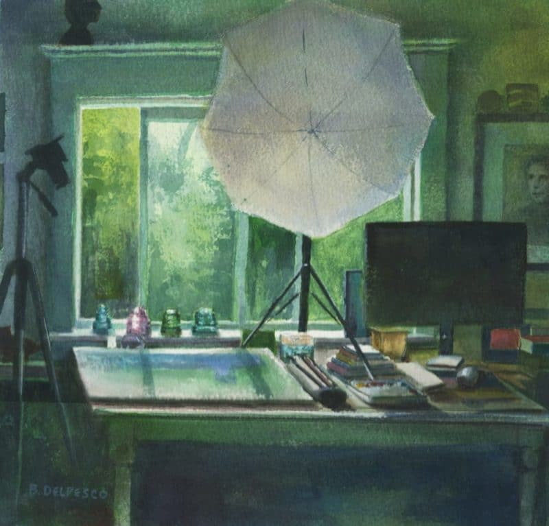 Watercolor: An Artist's Studio and Flat Art Storage