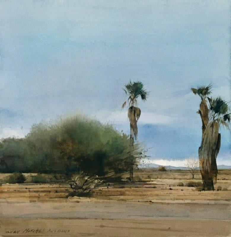 Dean Mitchell landscape watercolors