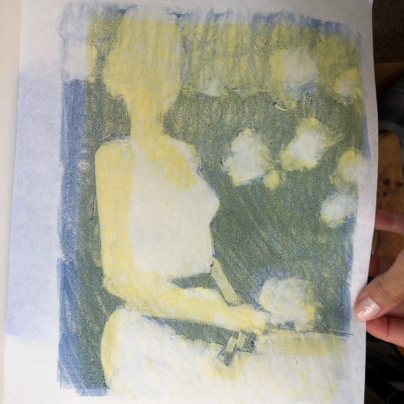layered inks on a monotype