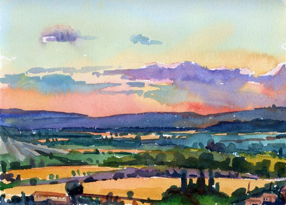 Susan Abbott landscape watercolor studies