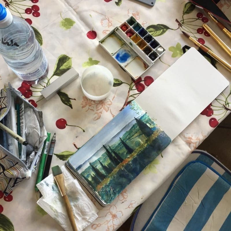 watercolor-sketching-landscape