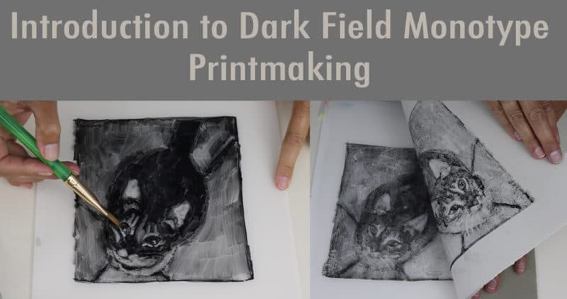 online course teaching an intro to dark field monotype