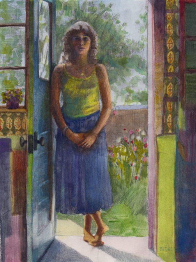 watercolor portrait using glazing techniques