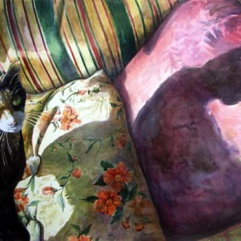 Watercolor-Painting-of-a-Cat