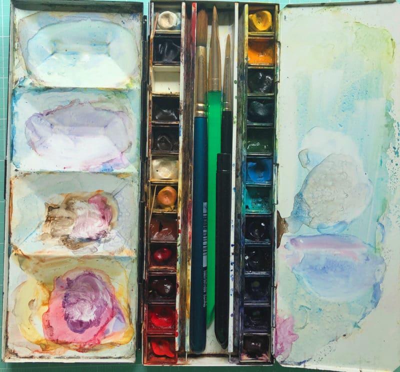 tin watercolor palette