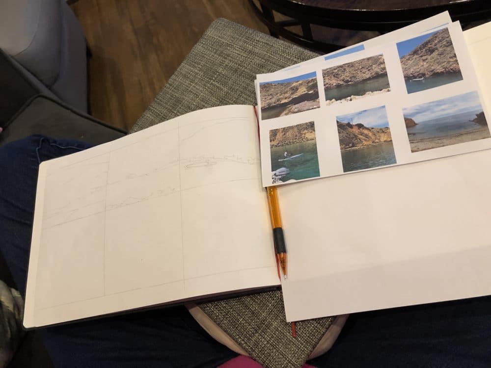 Hahnemuhle Watercolor sketchbook practice painting