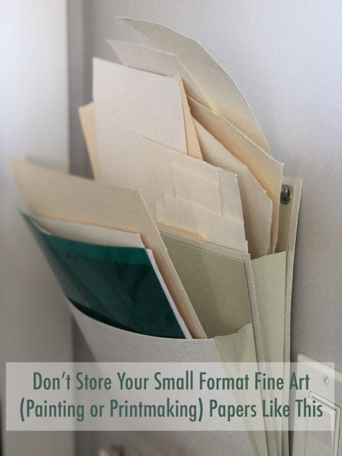 Don't store your fine art papers in ope air wall pockets like this