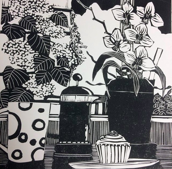 linocut by Sue Welfare