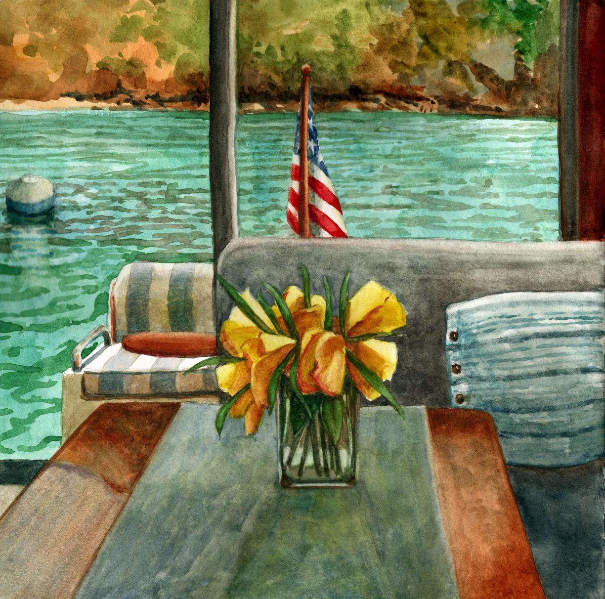 traveling with watercolors