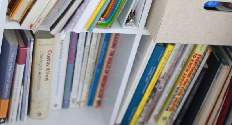 artist studio library - art books