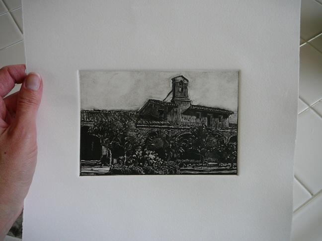 dark field monotype print