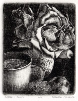a drypoint etching from plexiglass
