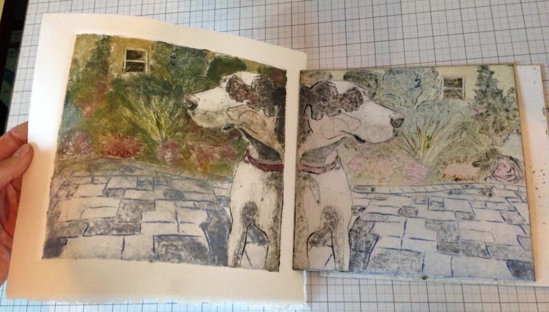 How to Apply Ink to a Collagraph Plate - Both Single Color and Multi-Color via a la poupee